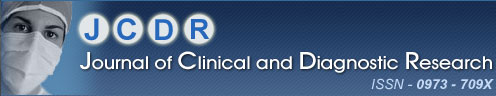 Journal of Clinical and Diagnostic Research, ISSN - 0973 - 709X